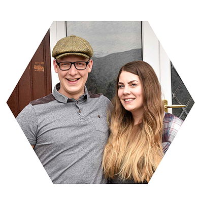 Dunborrodale Bed and Breakfast owners Calum and Rachel Simmister